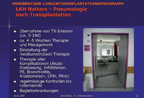 Innsbrucker LTX-Programm, LKH Natters - Pneumologie nach der Transplantation